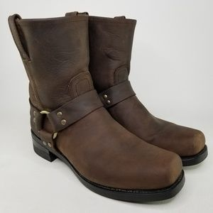 Frye Harness 8R Engineer Leather Boots 10.5 Brown